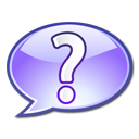 question mark blue icon