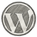 wordpress-emblem-freehand