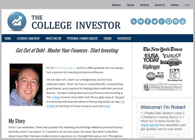 Grand Blogger Robert: The College Investor