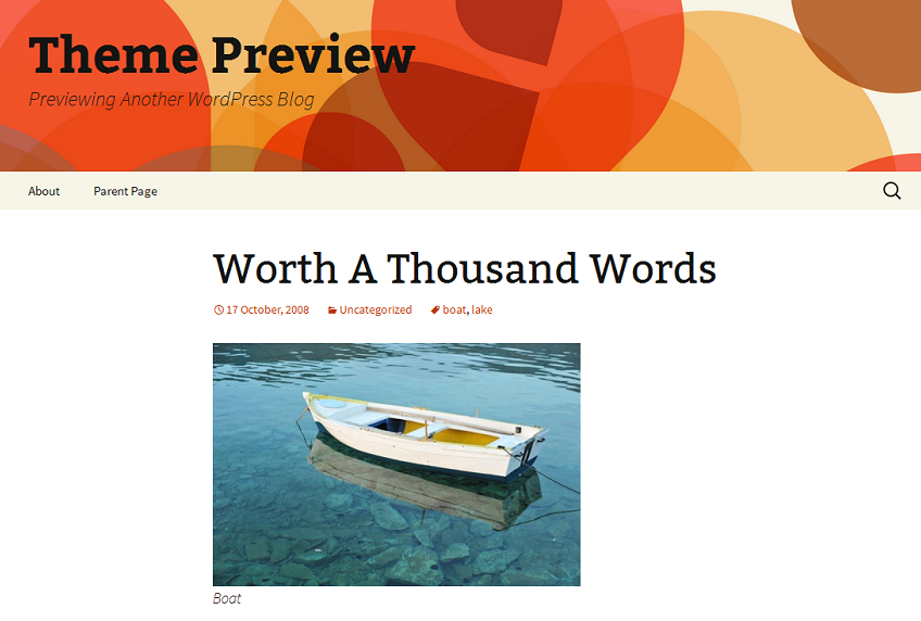 WordPress 2013 Theme