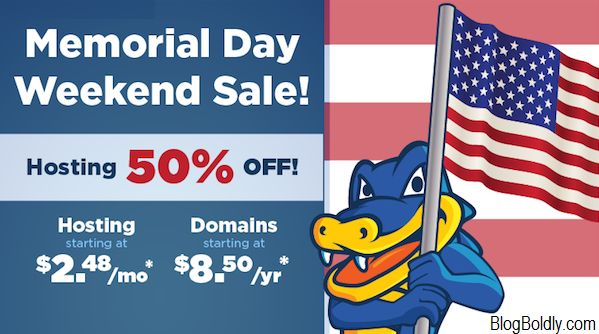 Hostgator Memorial Day Sale