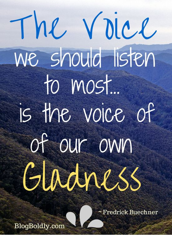 The Voice We Should Listen to Most @BlogBoldly.com