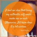 Oprah Quote About Being Authentic